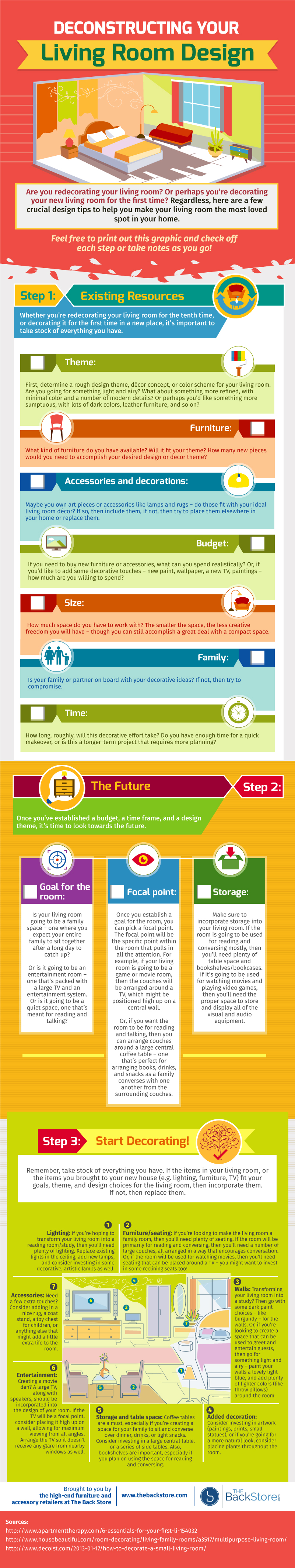 Deconstructing Your Living Room Design Infographic Blog
