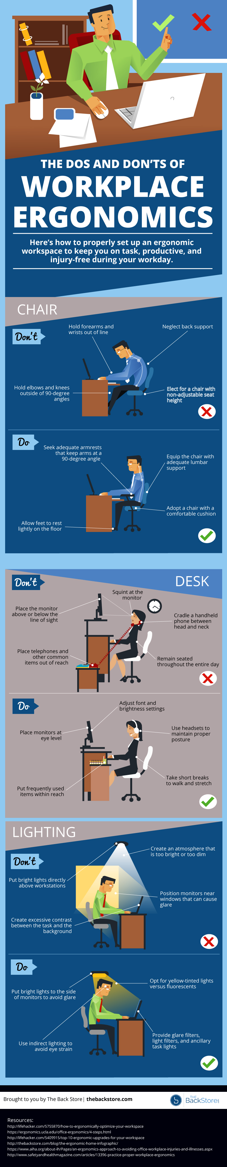 the dos and don ts of workplace ergonomics infographic blog. Black Bedroom Furniture Sets. Home Design Ideas